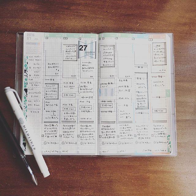 2016.8.1 . 1日遅れましたが… 先週も、お疲れ様でした。 . 今あるツールを とことん 使い倒そうと決めたので、 とことん 工夫してやってみます。 . ジブン好みの、ジブン手帳 :) . #手帳 #ジブン手帳mini  #手帳時間 #ていねいな暮らし #ましゅ日付
