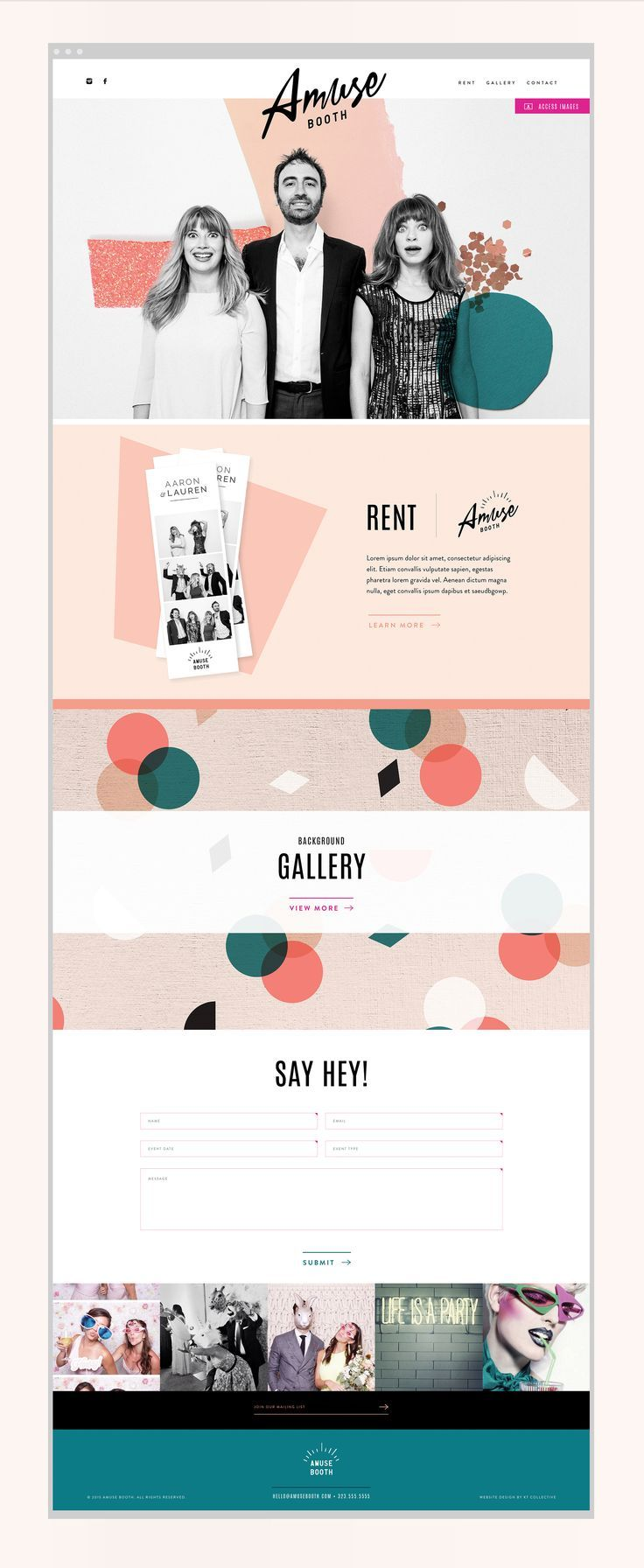 Amuse Booth – Kati Forner. Beautiful website layout!