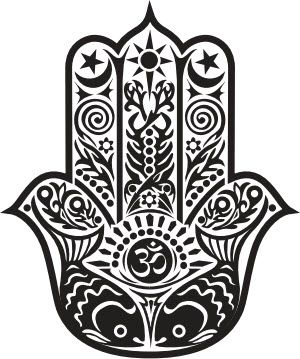 Hamsa - Hand of Fatima -  Temporary Tattoo
