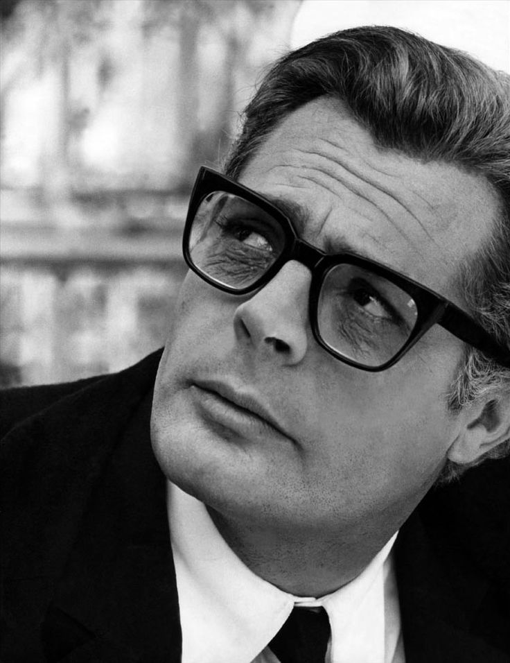 Famous Italians ~ Marcello Mastroianni ~ Italian actor who won two Golden Globe Awards.