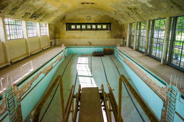 Swimming pool, Olympic Village, Berlin. The 1936 Summer Games were in Berlin.