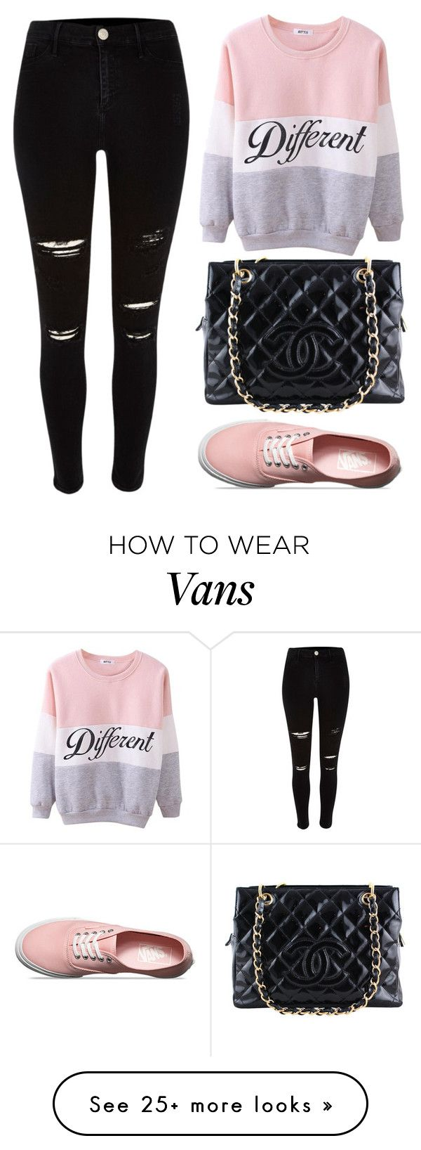 """Different"" by oaodaniela on Polyvore featuring Chanel and Vans"