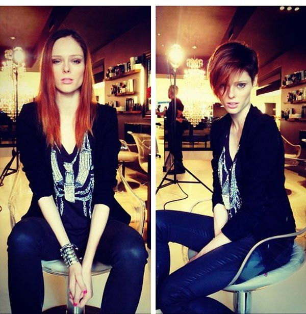 Coco Rocha's Dramatic Hair Makeover. I wish I had the face for this.. I'm sick of long hair.