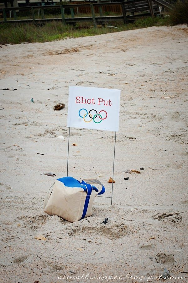 Olympics Party | A Small Snippet - really fun Olympic games for kids or adults