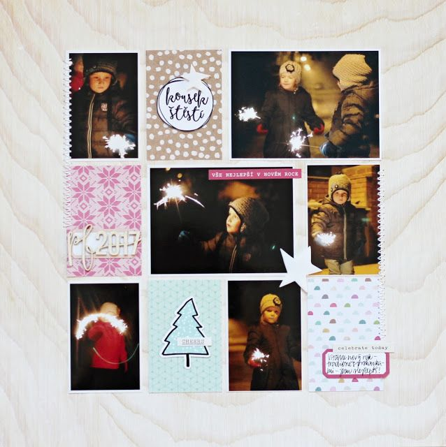 New year Eve .. snow and cocoa by Crate Paper