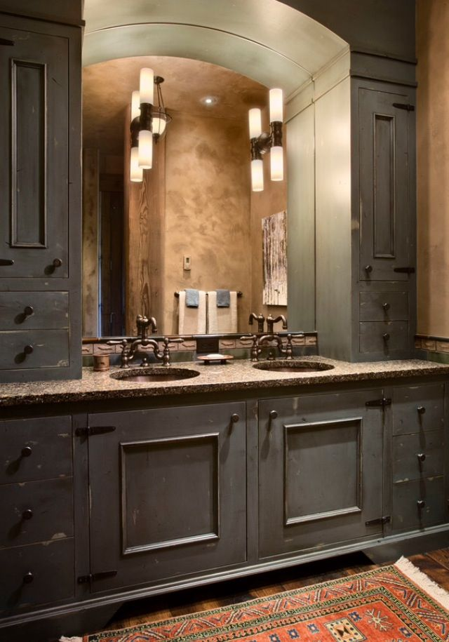 Rustic Grey Cabinets Rustic Bathroom Designs Rustic