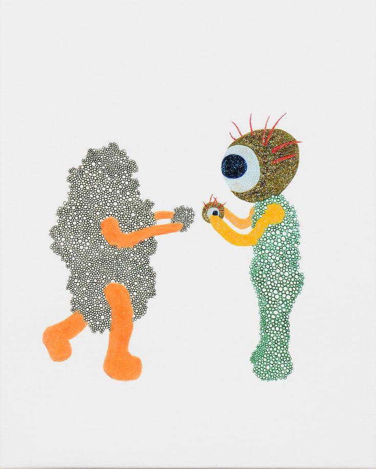 目マンと石さんの目石交換 / Tomoaki TARUTANI #ART #Contemporary ART #POP ART #Mandala #曼荼羅