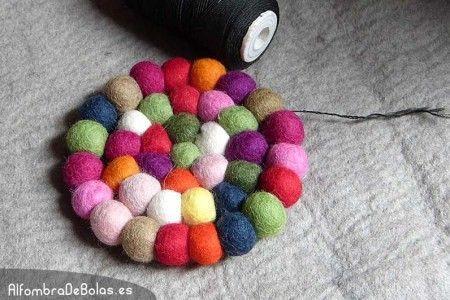 alfombras hechas a mano con fieltro de lana 100%