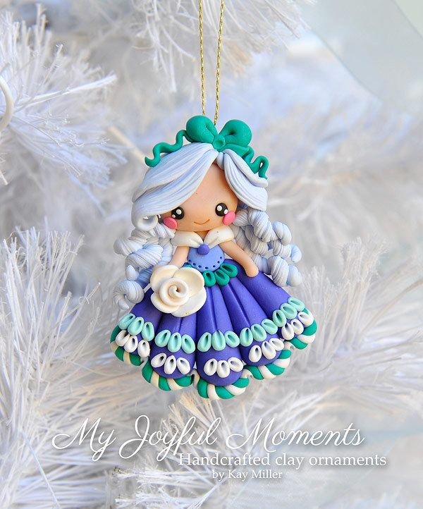 Polímero artesanales arcilla chica ornamento por MyJoyfulMoments