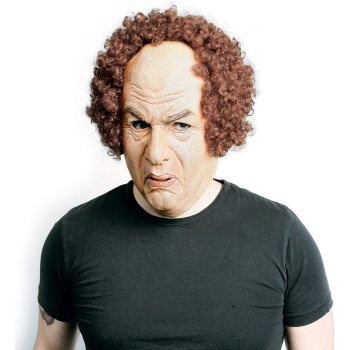 The Three Stooges Larry Mask Adult: http://www.myhalloweencostumes.com/the-three-stooges-larry-mask-adult.php - Includes one mask. This is an officially licensed The Three Stooges product.