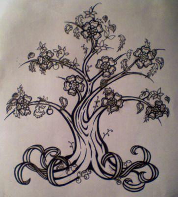 family tree tattoos | Family Tree Design Outta Place Tattoo