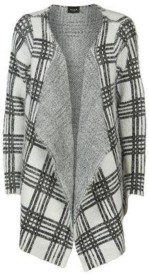 Vila Vistripo knit cardigan pristine/black