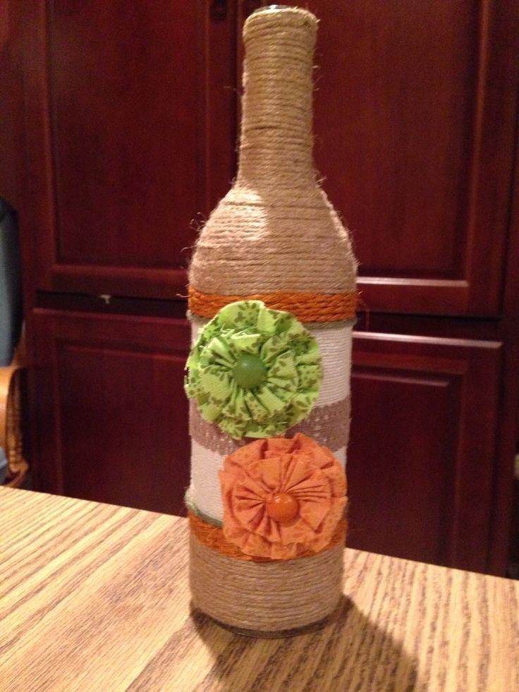 Wine bottle crafts.