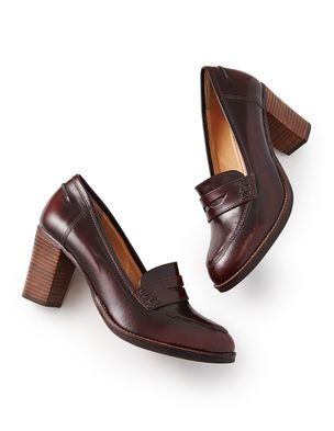 High Heeled Loafer, Claret :: Boden Autumn 2014 Wishlist