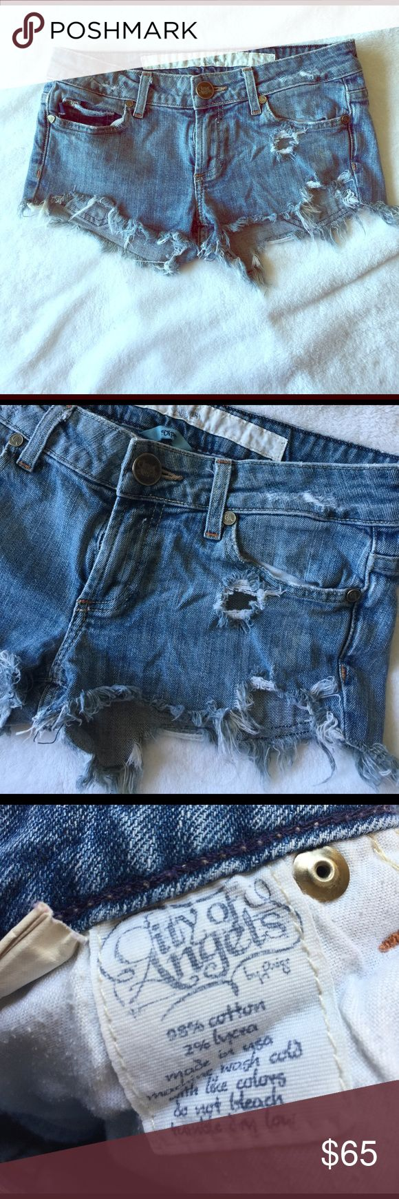 City Of Angels Distressed Jeanshorts Excellent Condition city of angels Shorts Jean Shorts