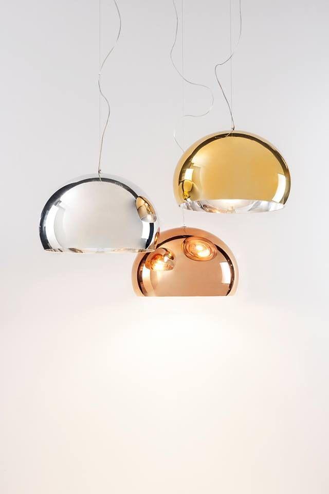 Kartell FL/Y Metallic Suspension pendant light by Ferruccio Laviani