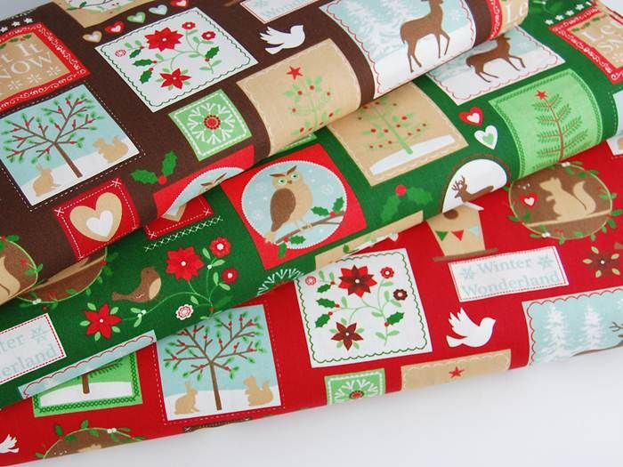 Tkanina bawełniana - Winter Wonderland brąz 151 Tkaniny i inne przydasie