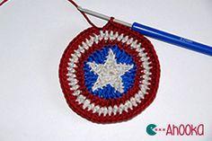 star in a crochet circle tutorial. Free crochet pattern
