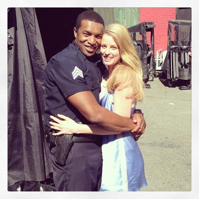 Roger Cross and Rachel Nichols on the set of... NOT Continuum (via ticklenichols on Instagram)