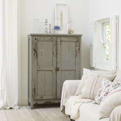 just loving grey painted furniture with white furnishings