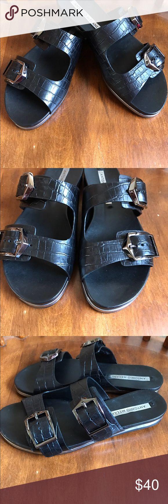 🎀Antonio Melani sandals NWOT Antonio Melani Women's flat slide banded sandals ANTONIO MELANI Shoes Sandals