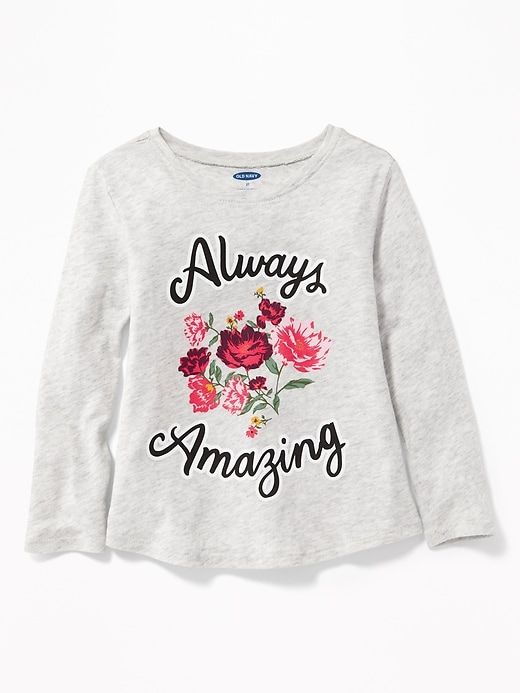 8a319841e540a6 Graphic Scoop-Neck Tee for Toddler Girls