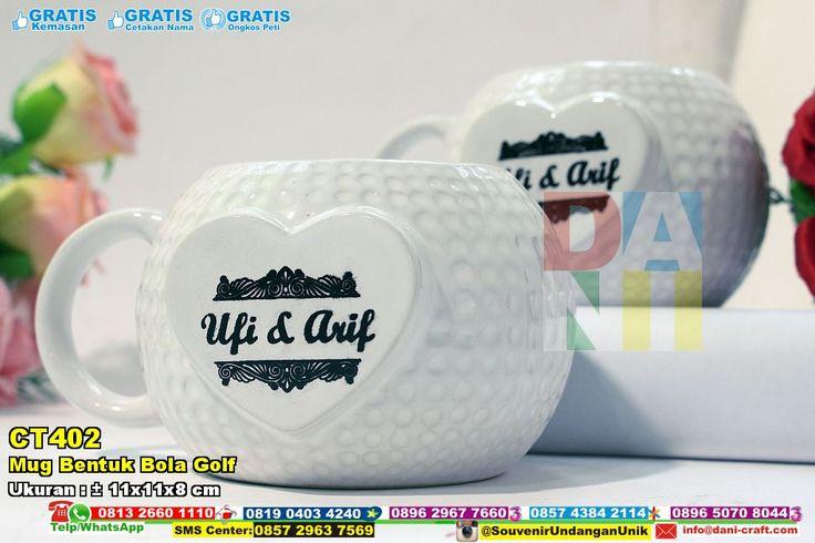 Mug Bentuk Bola Golf WA/SMS/TELP: 0852-2602-1075 #souvenirmug #mugbentukbolagolf #mugunik #mugmurah #mugelegan #mugakaca #mugpraktis #mugmodern #MugBentuk #PabrikBentuk #desainundanganPernikahan