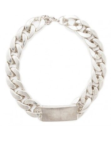Popetto Silver Chunky ID Necklace