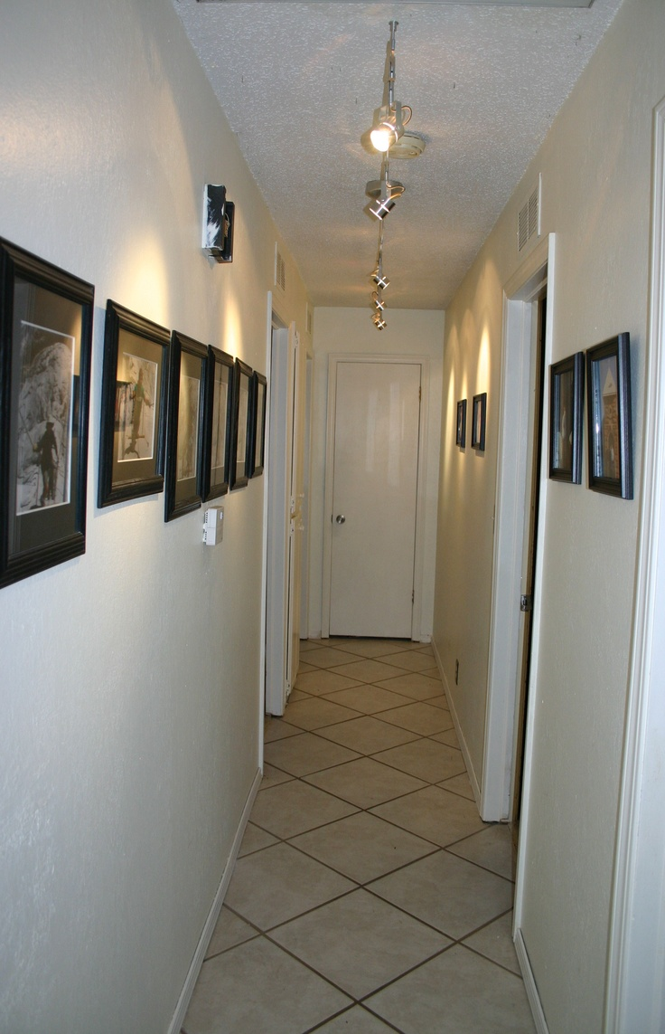 track lighting in a hallway similar to ours home sweet