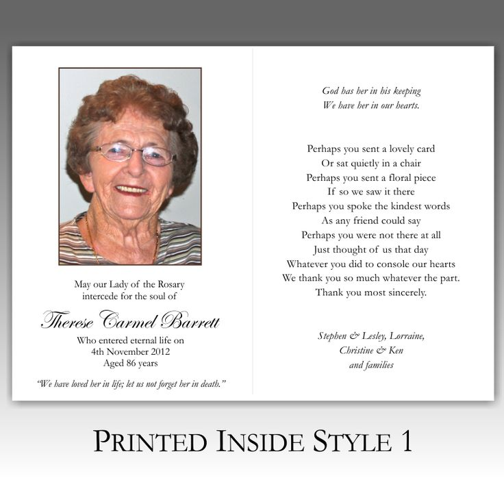 Best 25+ Funeral thank you cards ideas on Pinterest Funeral - death announcement cards free