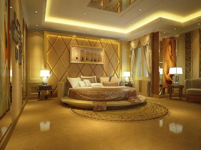 Idées Ingénieuses De Décoration Murale Chambre Chambre à - Lit rond suspendu au plafond