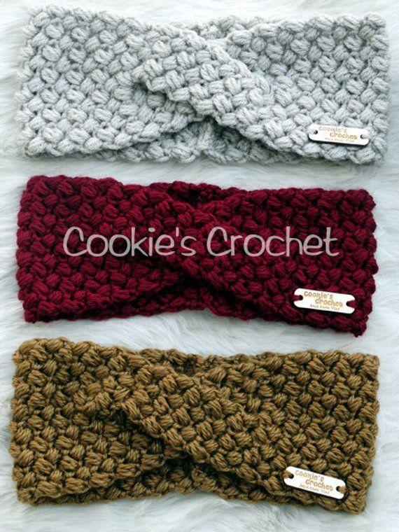 Crochet PATTERN: Twisted Beans Ear Warmer Headband Crochet Headwrap PDF pattern