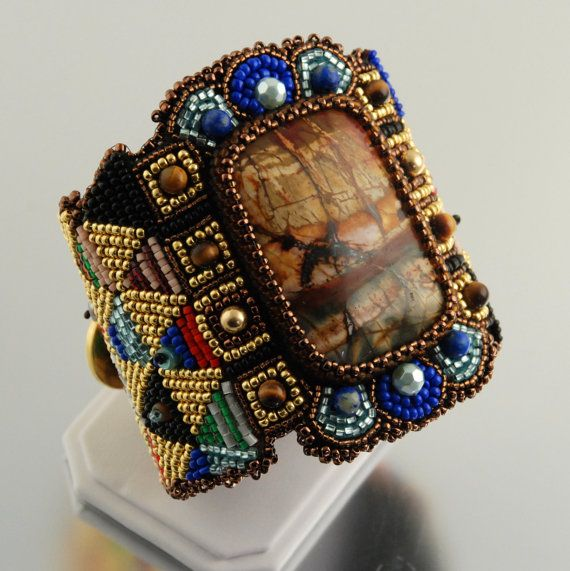 Ideas about bead embroidered bracelet on pinterest
