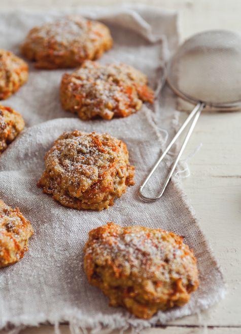 Bouchées de gâteaux aux carottes : http://www.troisfoisparjour.com/recettes/dessert/bouchees-de-gateaux-aux-carottes
