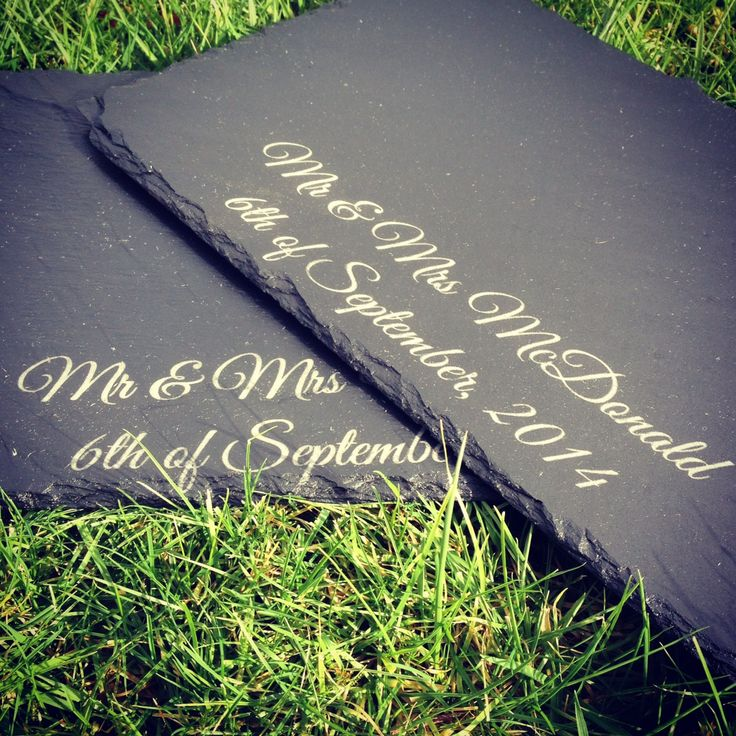 Image result for personalised slate placemats
