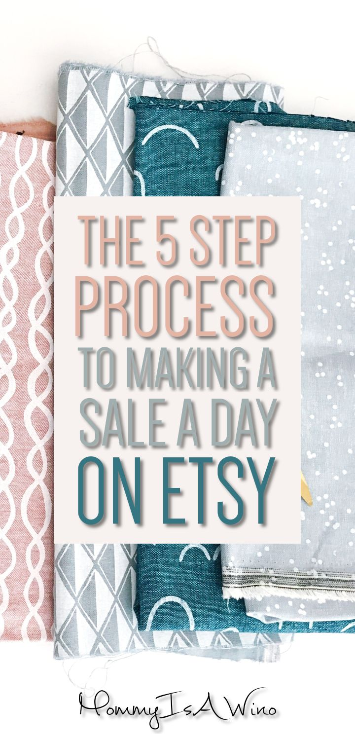 The 5 Step Process to Making a Sale a Day on Etsy - Pinterest for Etsy, Handmade Business Tips
