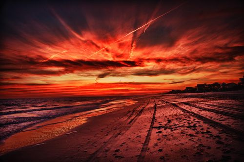 Emerald Isle Sunset, Barrier Island near Jacksonville, North Carolina.(by OlivierJD)