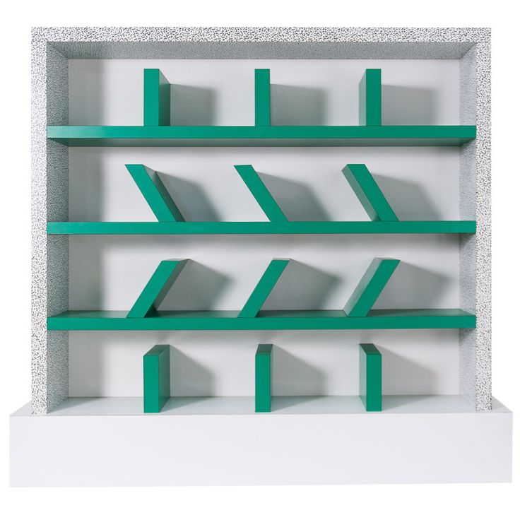 Early edition  Survetta  Bookcase   Ettore Sottsass for Memphis  Laminate  over wood. 15 best Memphis  The Postmodern furniture by Ettore Sottsass from