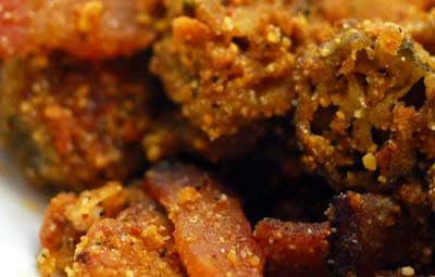 Baked Okra with Bacon??? This is one of my favorite blogs, and she rarely disappoints this displaced Texan.
