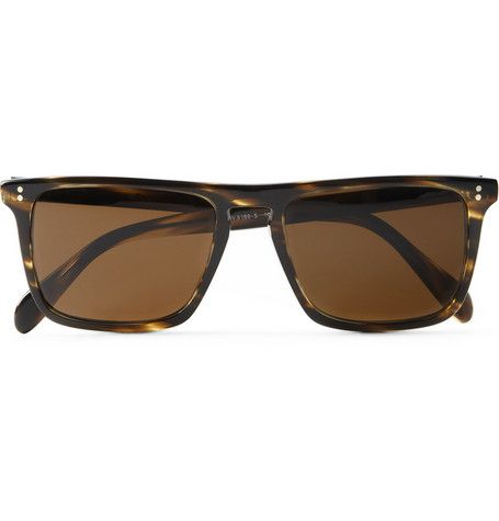Oliver Peoples Bernardo Rectangular-Frame Polarised Sunglasses | MR PORTER