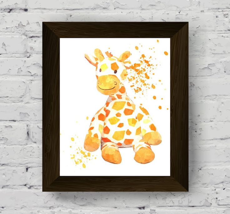 giraffe print, animal wall art, nursery poster, baby room watercolor, modern printable artwork, instant digital download di AlemiPrints su Etsy
