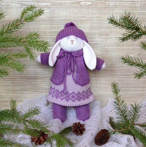 Easter Bunny  Bunny Toy  Bunny Doll   Knit Rabbit by ProNinaKnit