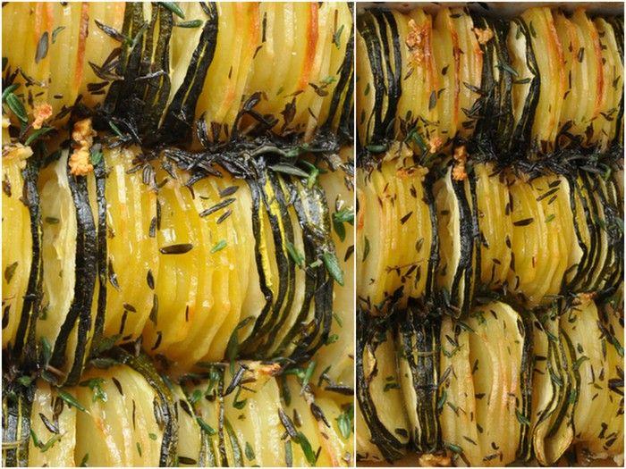 Tian pommes de terre courgettes et thym