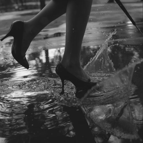 You can always jump in puddles.