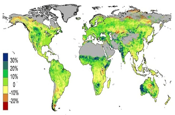 Climate SHOCKER: Rising CO2 is turning the world's deserts GREEN