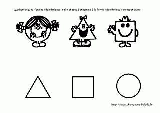 Petite section relier les formes géométriques