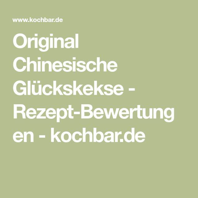 Original Chinesische Glückskekse - Rezept-Bewertungen - kochbar.de