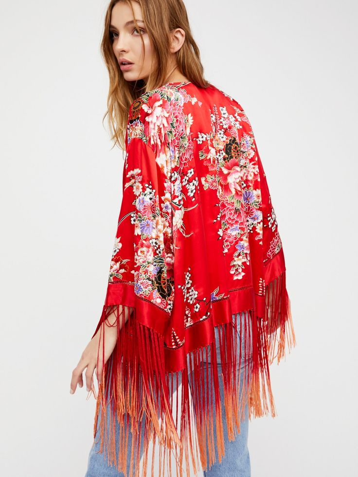 Best of My Love Silk Kimono at Free People Clothing Boutique