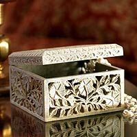 White soapstone #jewelrybox from India