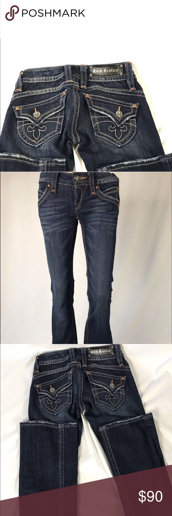 "‼️‼️‼️Must go‼️‼️‼️ Rock Revival Jeans Rock Revival Gwen Boot Cut Women's 25 Inseam 33"" Pre-Owned Great Condition.  Reasonable offers being accepted! Rock Revival Jeans Boot Cut"